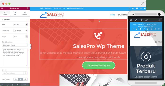 browser mockup salespro