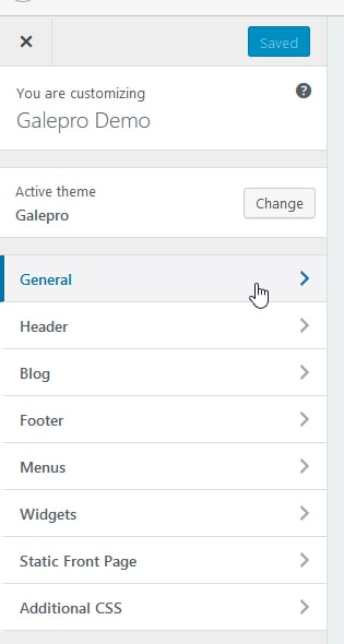 galepro customizer