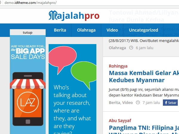 fixed scroll menu banner sidebar majalahpro