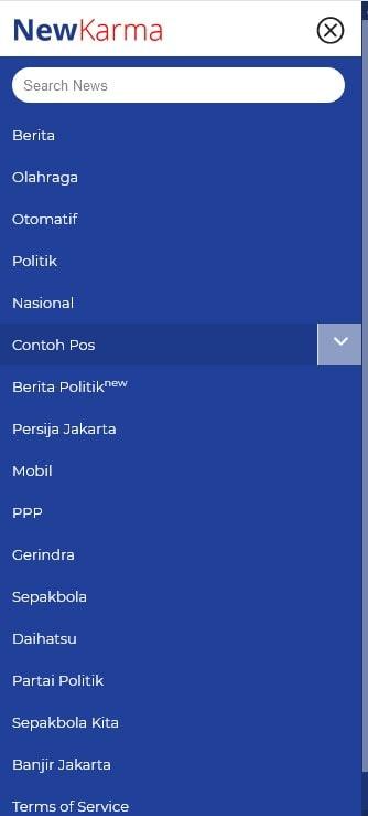 newkarma menu amp