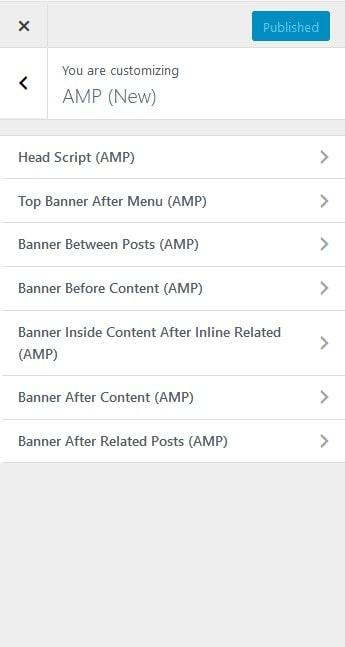 pengaturan amp bloggingpro